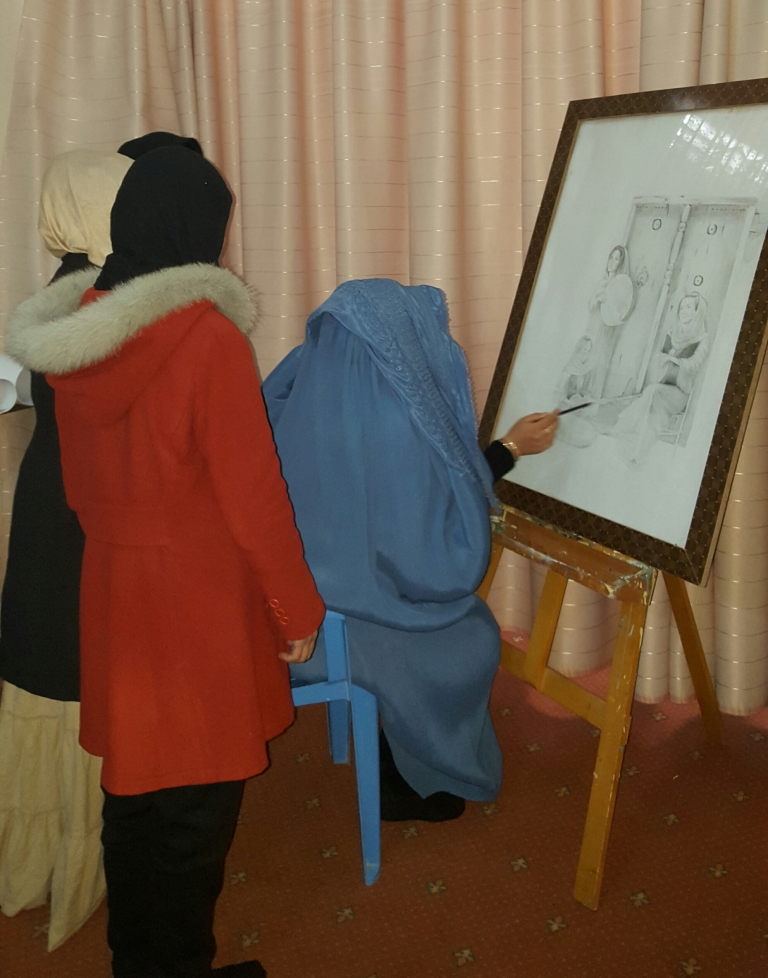 A Women in drawing_Jawzjan_CC