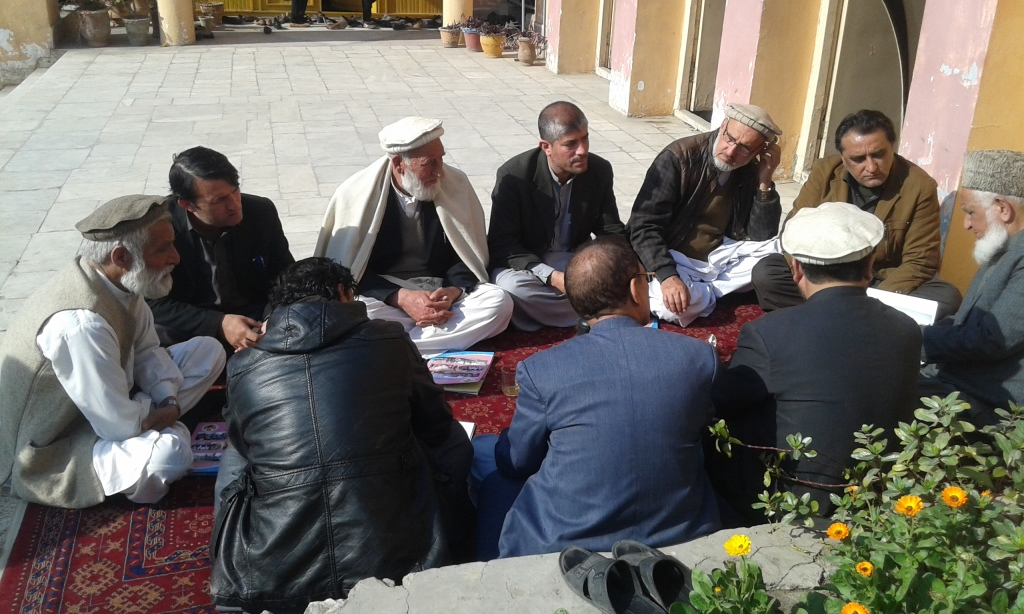 Elders discuss on trust- Nangarhar-CC