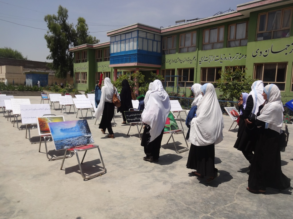 Local females and students during our Art exhibition  (4)