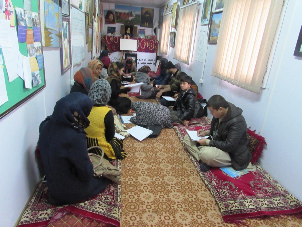 Students Learning Painting in Balkh-CC