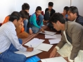 Calligraphy session in Bamyan cultural container
