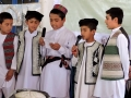 Children singing peace song in Culutral day in Jawzjan