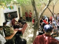 Kabul Cultural Container- Young singers performed live for children in an educational soceity
